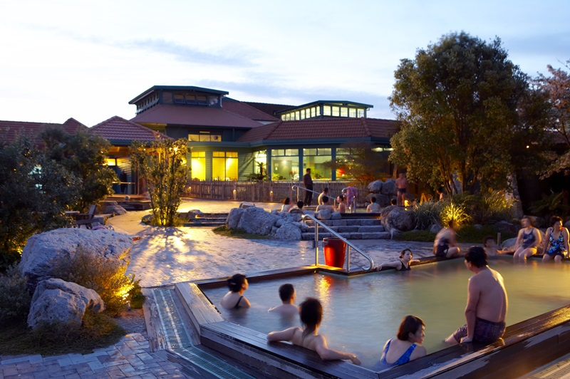 Polynesian Spa. Thermal hot springs and health spa, Rotorua