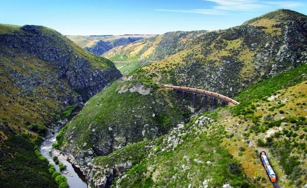 Taieri Gorge Railway - Flat Stream Viaduct