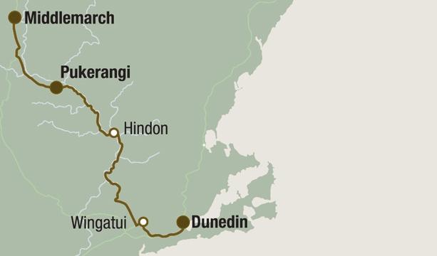 Taieri Gorge Railway, photo: taieri.co.nz