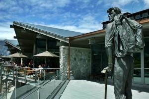 The Sir Edmund Hillary Alpine Centre Exterior - Hillary Statue