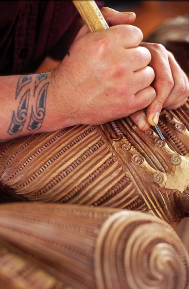 Te Puia, carving