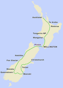 17 day cycling new zealand map
