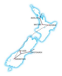 North and South Highlights NZ Map
